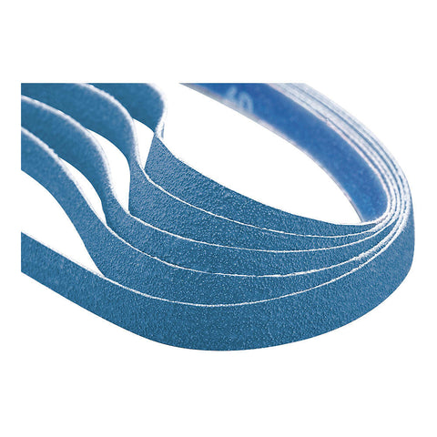 "Norton Sanding Belt, 12"" Length, 1"" Width, Zirconia Alumina, 60 Grit, Medium, Coated, R823P BlueFire, 50 pk."