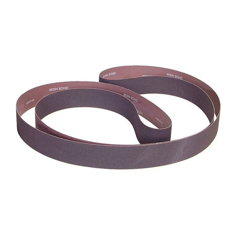 "Norton Sanding Belt, 132"" Length, 4"" Width, Aluminum Oxide, 80 Grit, Medium, Coated, R228 Metalite, 10 pk."