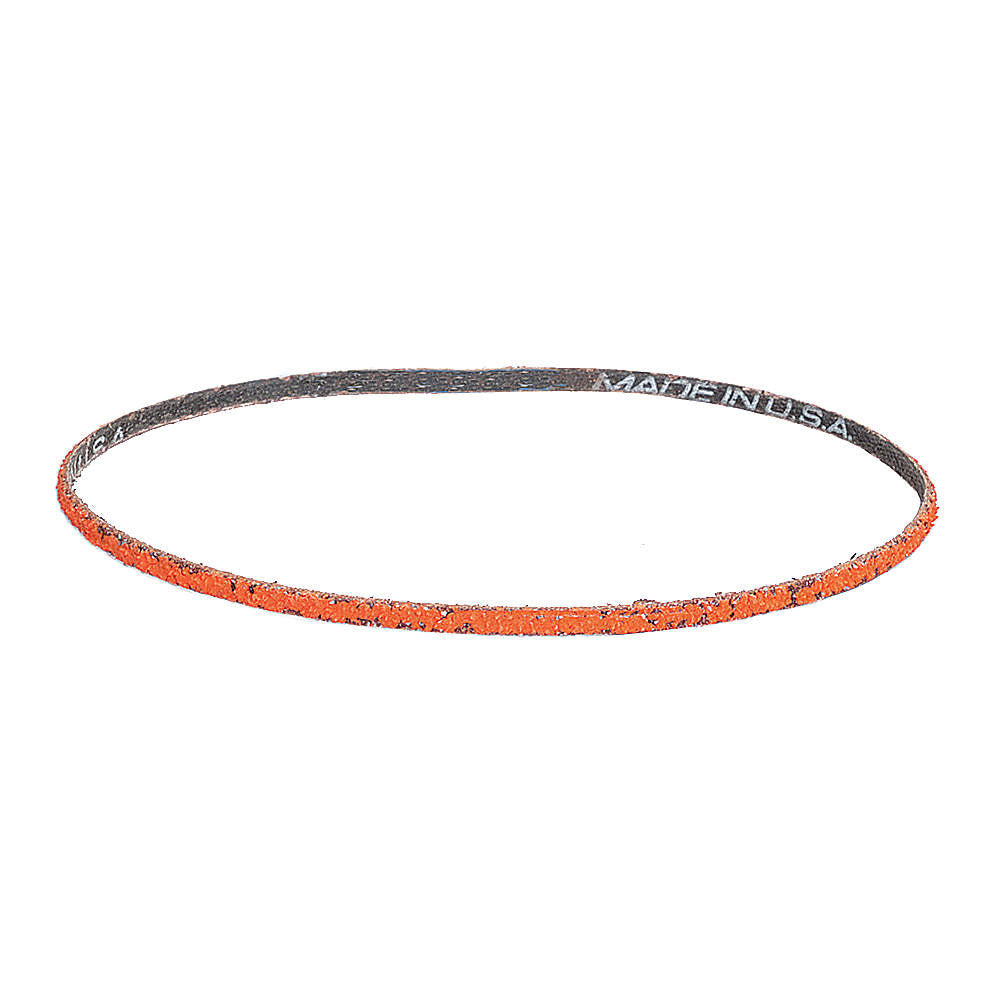 "Norton Sanding Belt, 24"" Length, 1/4"" Width, Ceramic, 80 Grit, Medium, Coated, R980P Blaze, 50 pk."