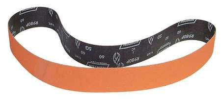 "Norton Sanding Belt, 48"" Length, 2"" Width, Ceramic, 36 Grit, Extra Coarse, Coated, R980P Blaze, 10 pk."