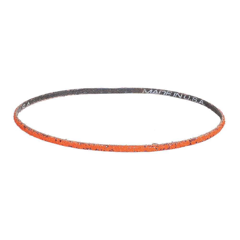"Norton Sanding Belt, 48"" Length, 2"" Width, Ceramic, 80 Grit, Medium, Coated, R980P Blaze, 10 pk."