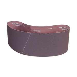 "Norton Sanding Belt, 60"" Length, 4"" Width, Aluminum Oxide, 24 Grit, Coarse, Coated, R228 Metalite, 10 pk."