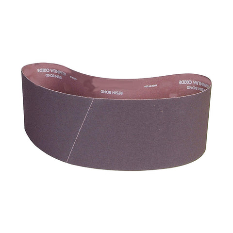 "Norton Sanding Belt, 60"" Length, 4"" Width, Aluminum Oxide, 80 Grit, Medium, Coated, R228 Metalite, 10 pk."