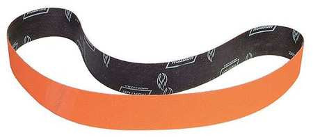 "Norton Sanding Belt, 60"" Length, 4"" Width, Ceramic, 60 Grit, Medium, Coated, R980P Blaze, 10 pk."