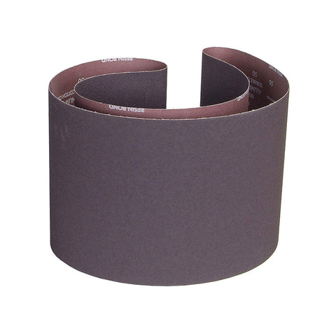 "Norton Sanding Belt, 70-1/2"" Length, 10"" Width, Aluminum Oxide, 60 Grit, Medium, Coated, R228 Metalite, 10 pk."