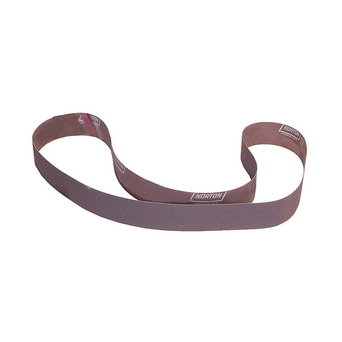 "Norton Sanding Belt, 72"" Length, 2"" Width, Aluminum Oxide, 180 Grit, Very Fine, Coated, R228 Metalite, 10 pk."