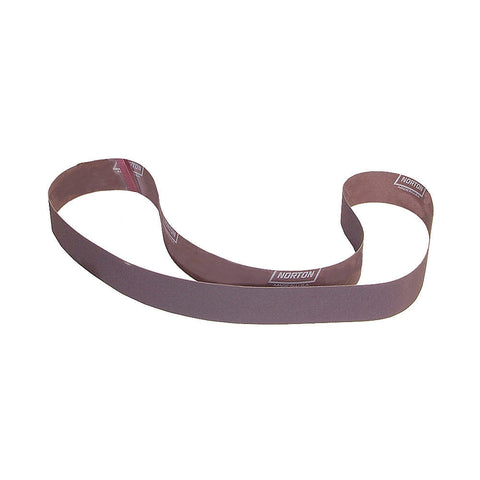 "Norton Sanding Belt, 72"" Length, 2"" Width, Aluminum Oxide, 40 Grit, Coarse, Coated, R228 Metalite, 10 pk."