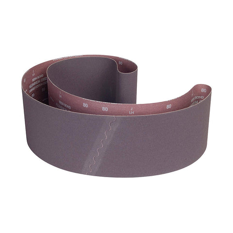 "Norton Sanding Belt, 89"" Length, 6"" Width, Aluminum Oxide, 80 Grit, Medium, Coated, R228 Metalite, 10 pk."