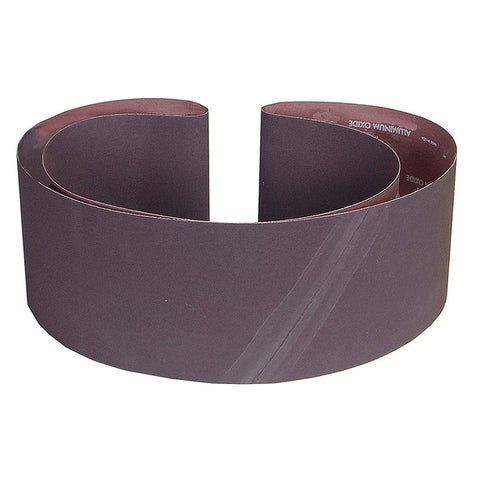 "Norton Sanding Belt, 89"" Length, 6"" Width, Zirconia Alumina, 80 Grit, Medium, Coated, R823P BlueFire, 10 pk."