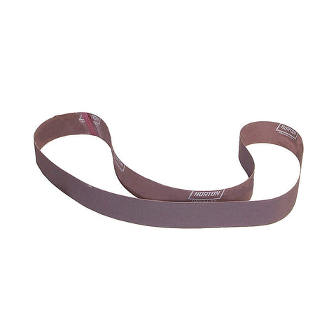 "Norton Sanding Belt, 90"" Length, 3"" Width, Aluminum Oxide, 36 Grit, Coarse, Coated, R228 Metalite, 10 pk."