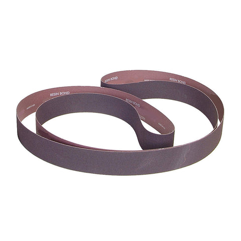 "Norton Sanding Belt, 90"" Length, 4"" Width, Aluminum Oxide, 80 Grit, Medium, Coated, R228 Metalite, 10 pk."