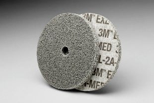 3M™ Scotch-Brite™ EXL Unitized Wheel, 3 in. x 1/4 in. x 3/8 in. 2A Medium, 40 pk.