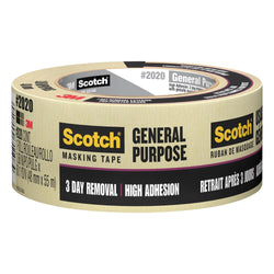 3M™ Scotch™ 2020 1 in. Masking Tape, 6 pk.Liquid error (product-grid-item line 33): comparison of String with 0 failed