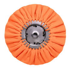 Renegade Products Airway Buffing Wheel w/ Center Plate, 8 in. Orange, 20 Ply