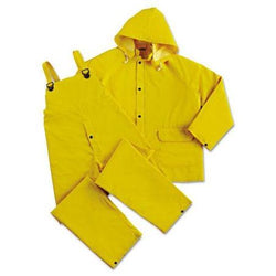 DuraWear® 2 Layer PVC/Polyester 3-Piece Yellow Rainsuit, LargeLiquid error (product-grid-item line 33): comparison of String with 0 failed