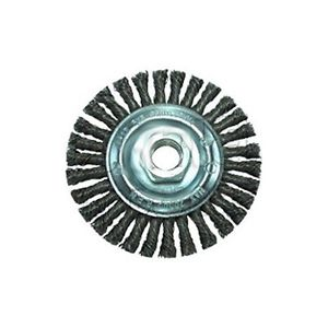 "Pearl Abrasive 4"" x .020"" x 5/8-11 Knot Wheel Stringer Bead Twist Stainless Wire Brush"