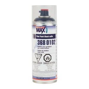 SprayMax 1K Topcoat Trim Paint, Black Satin Gloss