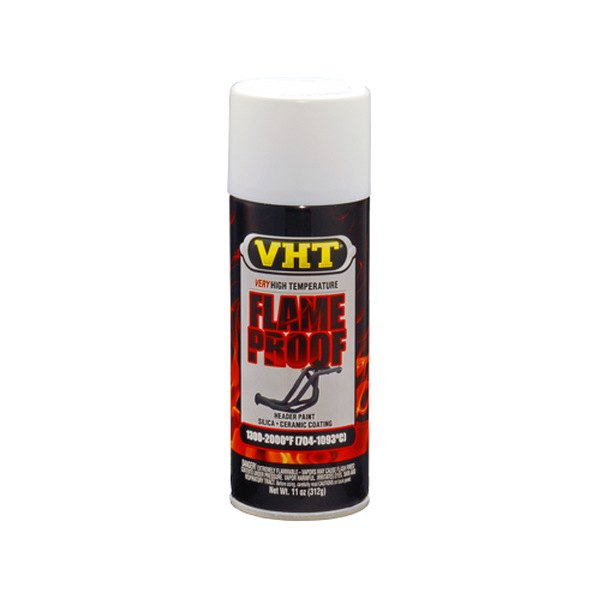 VHT FLAMEPROOF™ High Heat Coating, Flat White, 11 oz.