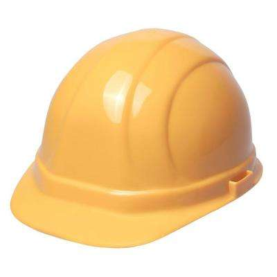 Green Rubber Peak Series Hard Hats with 4-Point Suspension (Yellow)