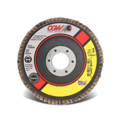 CGW Z3 Zirconia, Type 29, 40 Grit, 4 1/2 in. x 7/8 in.