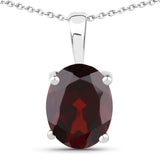 4.32 Carat Genuine Garnet .925 Sterling Silver Jewelry Set