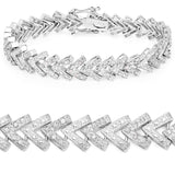 0.90 Carat Genuine White Diamond .925 Sterling Silver Bracelet