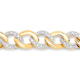 0.70 Carat Genuine White Diamond .925 Sterling Silver Bracelet