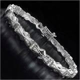 14K White Gold Plated 0.60 Carat Genuine White Diamond .925 Sterling Silver Bracelet