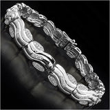 14K White Gold Plated 0.88 Carat Genuine White Diamond .925 Streling Silver Bracelet