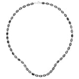 30.10 Carat Genuine Black Sapphire .925 Sterling Silver Necklace