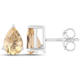 1.31 Carat Genuine Citrine .925 Sterling Silver Earrings