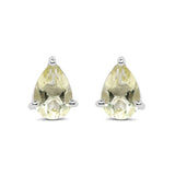 1.24 Carat Genuine Lemon Quartz .925 Sterling Silver Earrings