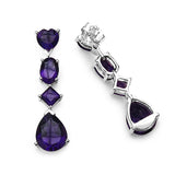 6.60 Carat Genuine Amethyst .925 Sterling Silver Earrings