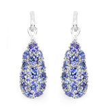 3.32 Carat Genuine Tanzanite .925 Sterling Silver Earrings