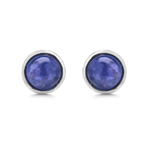 2.60 Carat Genuine Tanzanite .925 Sterling Silver Earrings