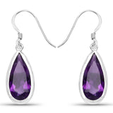 10.10 Carat Genuine Amethyst .925 Sterling Silver Earrings