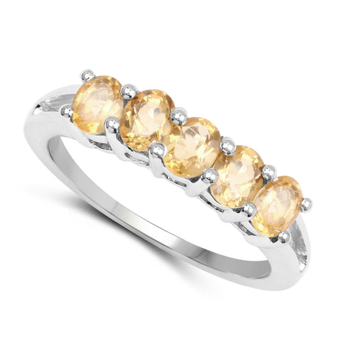 1.75 Carat Genuine Citrine .925 Sterling Silver Ring