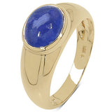 2.45 Carat Tanzanite 10K Yellow Gold Ring