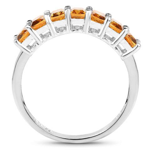 2.45 Carat Genuine Citrine .925 Sterling Silver Ring