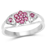 0.41 Carat Genuine Ruby .925 Sterling Silver Ring