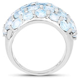 5.51 Carat Genuine Blue Topaz .925 Sterling Silver Ring