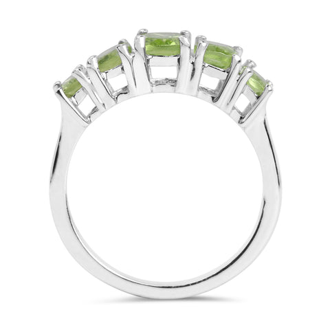 2.67 Carat Genuine Peridot .925 Sterling Silver Ring