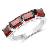 3.20 Carat Genuine Garnet .925 Sterling Silver Ring
