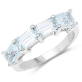 2.80 Carat Genuine Swiss Blue Topaz .925 Sterling Silver Ring