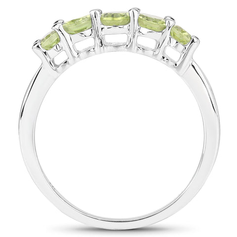 1.49 Carat Genuine Peridot .925 Sterling Silver Ring