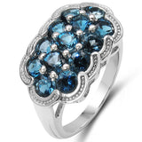 2.47 Carat Genuine Blue Topaz .925 Sterling Silver Ring