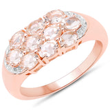 1.50 Carat Genuine Morganite .925 Sterling Silver Ring