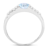 0.60 Carat Genuine Blue Topaz .925 Sterling Silver Ring