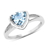 1.25 Carat Genuine Blue Topaz .925 Sterling Silver Ring