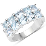 3.60 Carat Genuine  Blue Topaz .925 Sterling Silver Ring